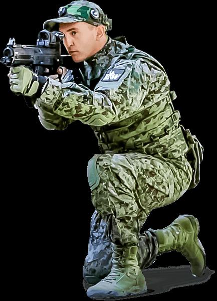 Lasertag rifle ak12-soldier